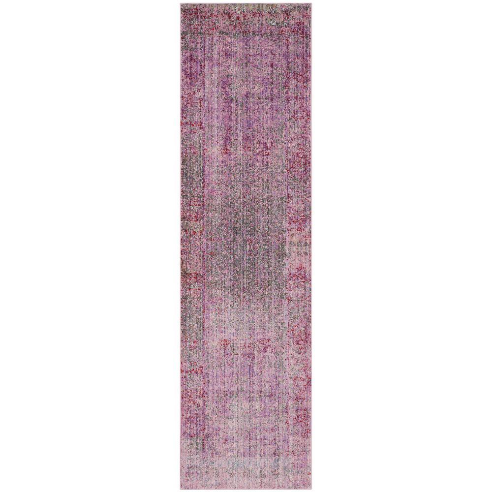 Valencia Lavender/Multi 2 ft. x 6 ft. Runner Rug