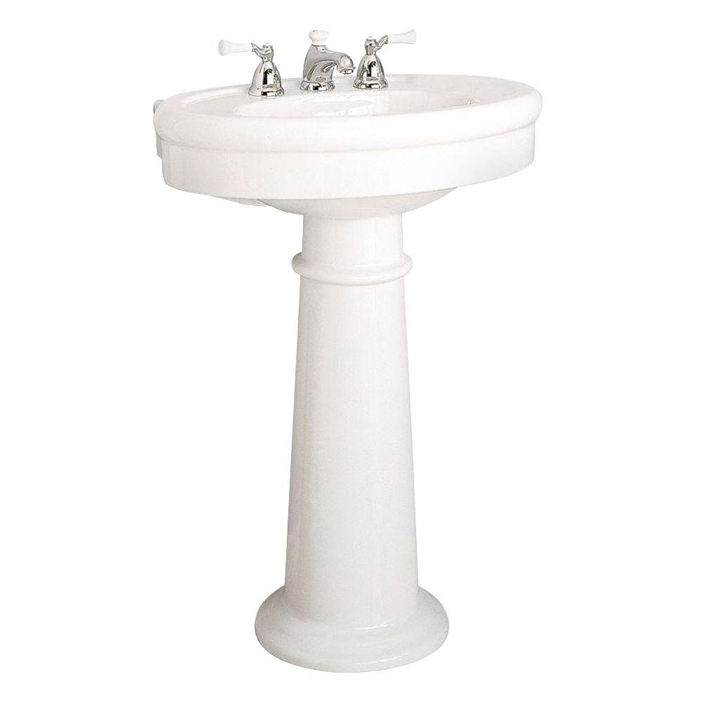 American Standard Collection Pedestal Combo Bathroom Sink in Linen ...