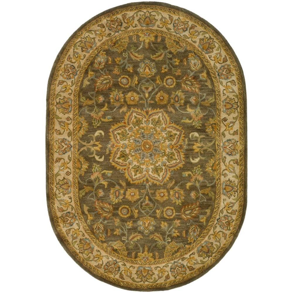 Heritage Green/Taupe 4 ft. 6 in. x 6 ft. 6 in.
