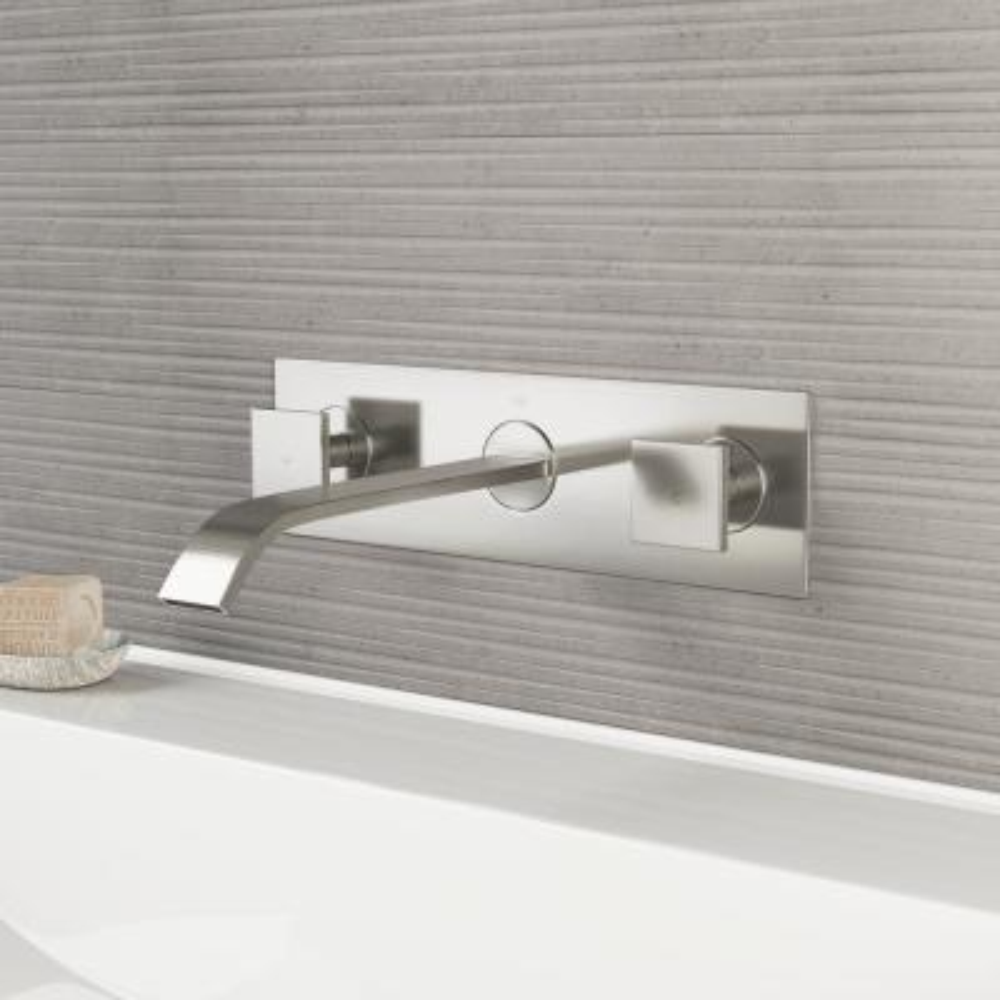 Titus 2-Handle Wall-Mount Vessel Bathroom Faucet in Brushed Nickel