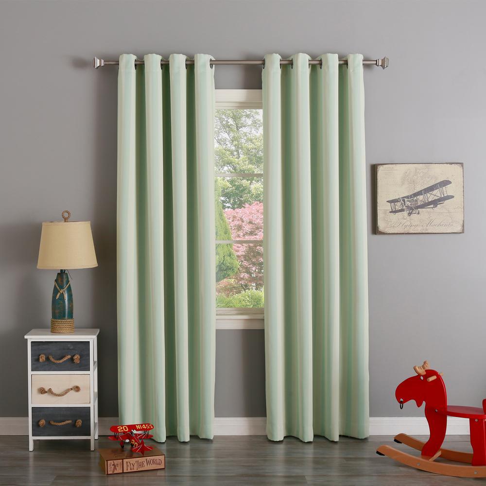 best home fashion 63 in l room darkening vertical stripe. Black Bedroom Furniture Sets. Home Design Ideas