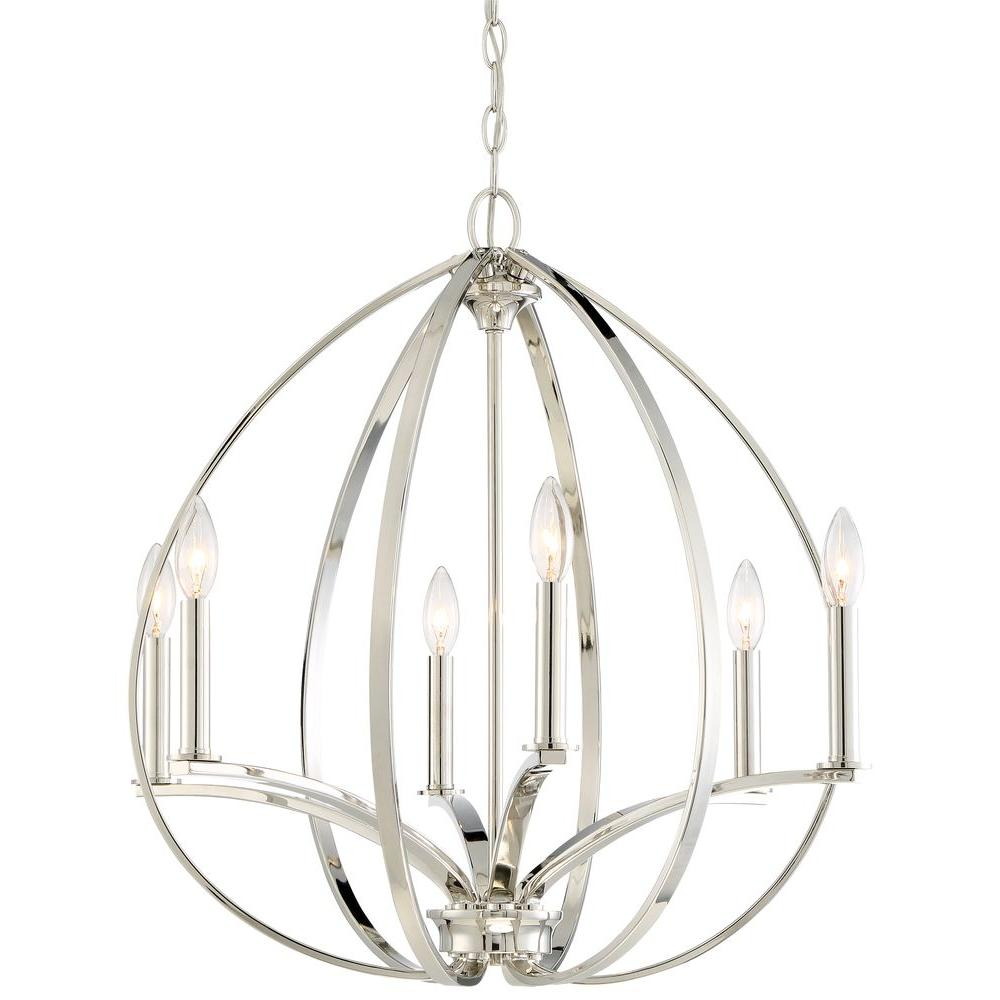 Minka lavery tilbury 6 light polished nickel chandelier 4986 613 minka lavery tilbury 6 light polished nickel chandelier mozeypictures Images