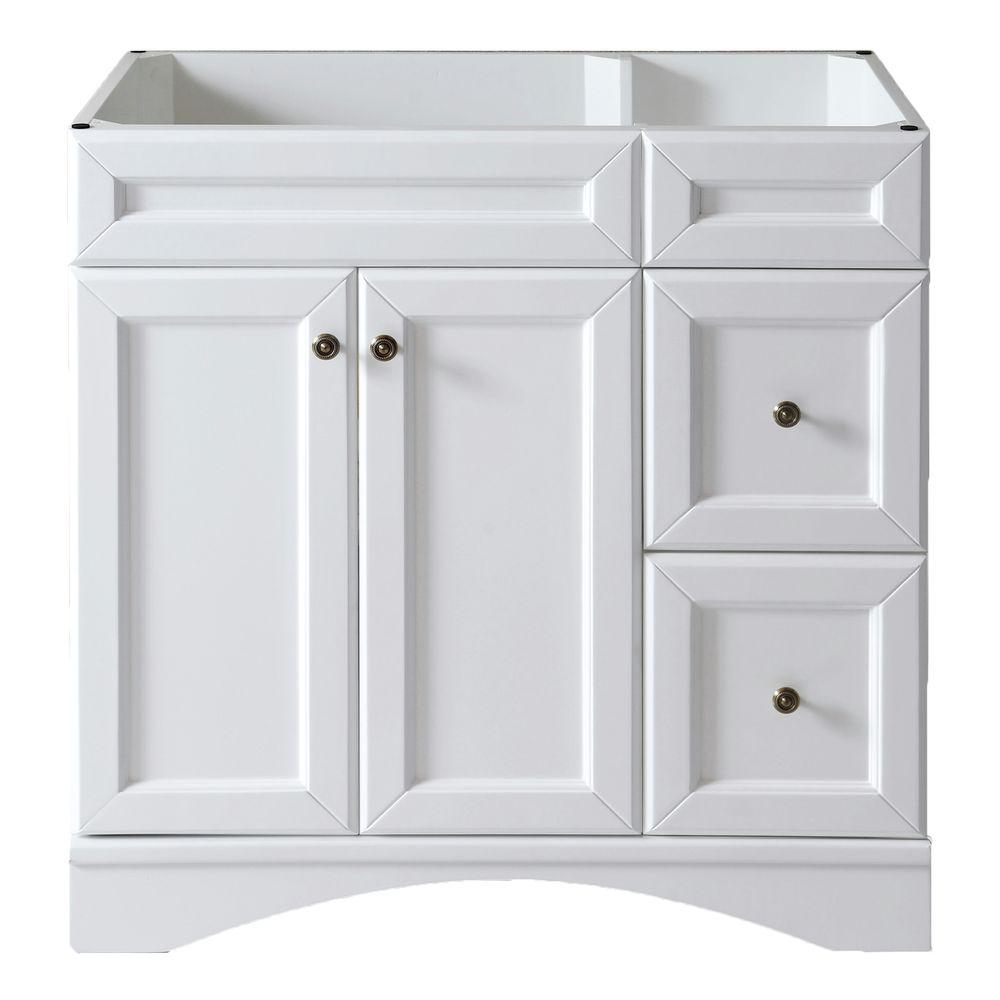 Virtu USA Talisa 36 in. Vanity Cabinet Only in White-DISCONTINUED