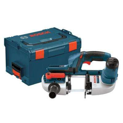 18 Volt Lithium-Ion Cordless Electric Compact Power Bandsaw with L-Boxx 3 Hard Case (Tool-Only)