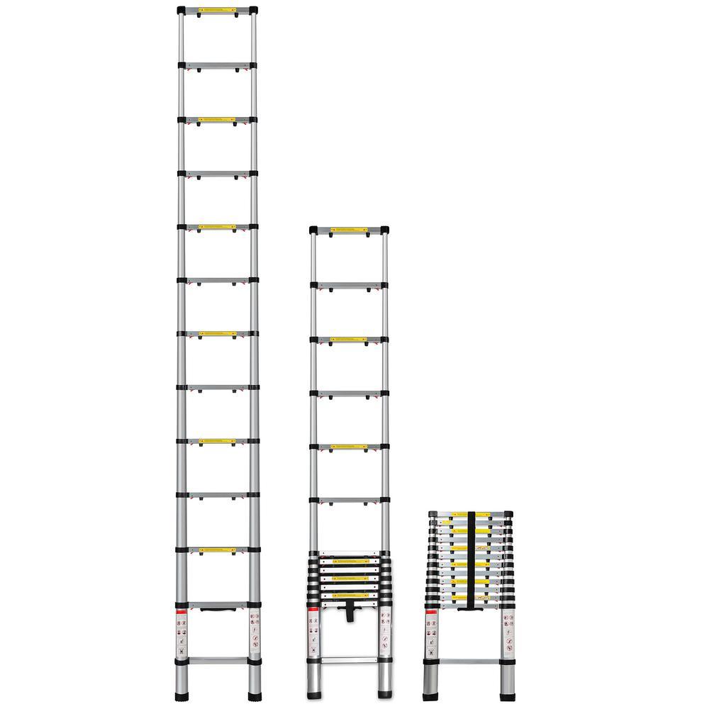 Telescoping Ladder 12.5 ft. Aluminum Extension Ladder