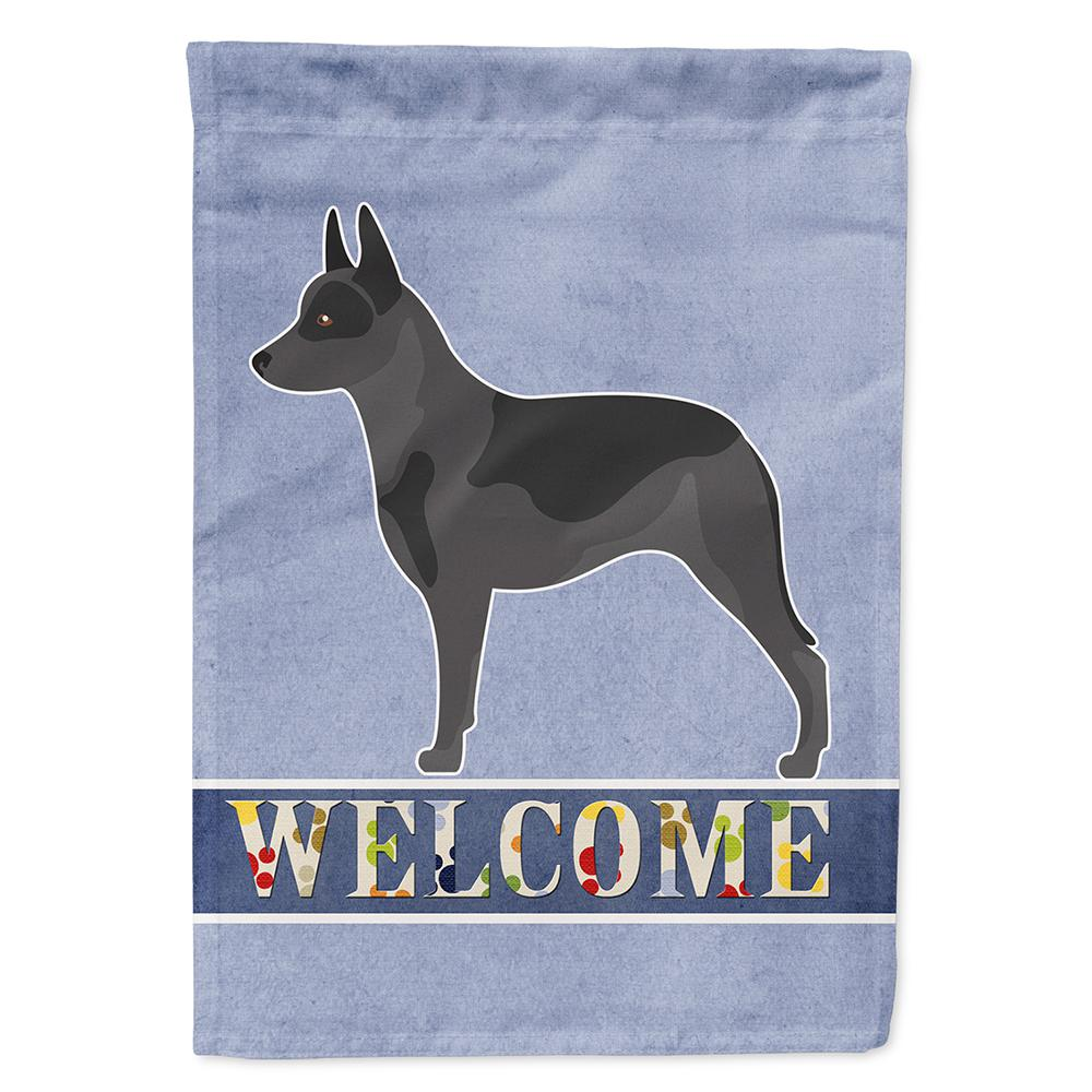 11 in. x 15-1/2 in. Polyester Australian Cattle Dog Welcome 2-Sided