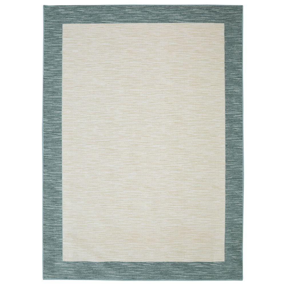 Mohawk Home Brutti Aqua 5 ft. x 8 ft. Indoor Area Rug, Blue was $55.1 now $44.08 (20.0% off)