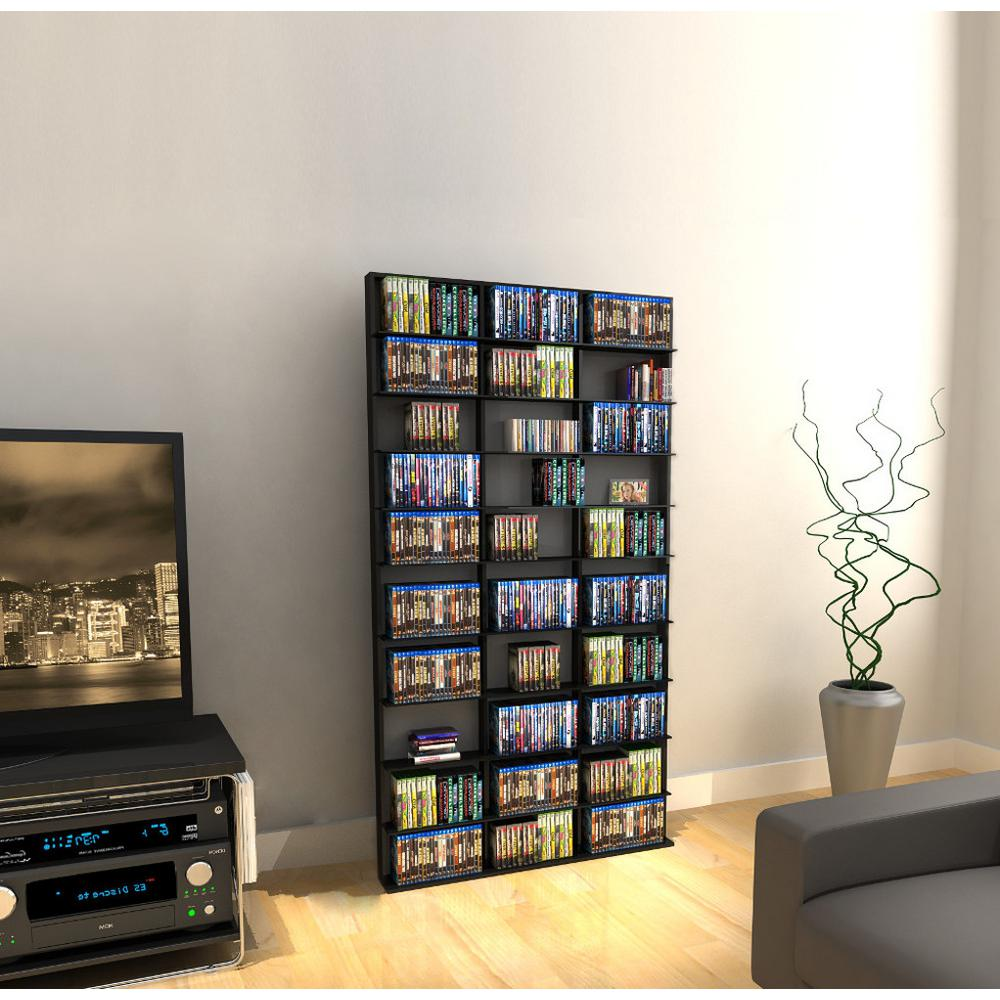Atlantic Oskar Espresso (Brown) Media Storage Atlantic, Inc. 38435714, The ultimate high capacity multimedia cabinet for all of your media storage needs. Organize your movies, music and games all in one place. Display decorative accessories in addition to your media. Color: Espresso.