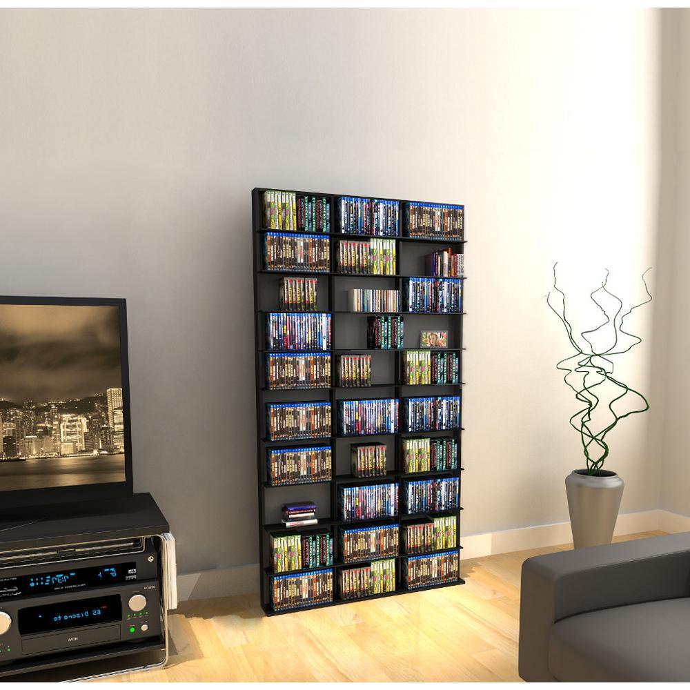 Atlantic Oskar Adjustable Media Wall-Unit 1080 Espresso