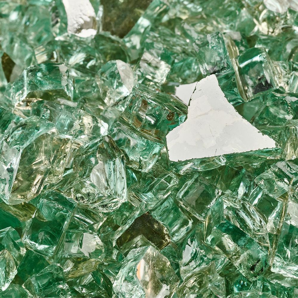 10 lbs. of Irish Green 1/4 in. Reflective Fire Glass