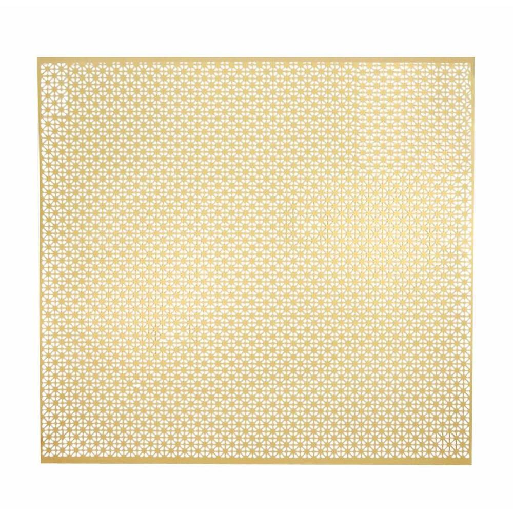 M-D Building Products 24 in. x 36 in. Union Jack Aluminum in Brass ...