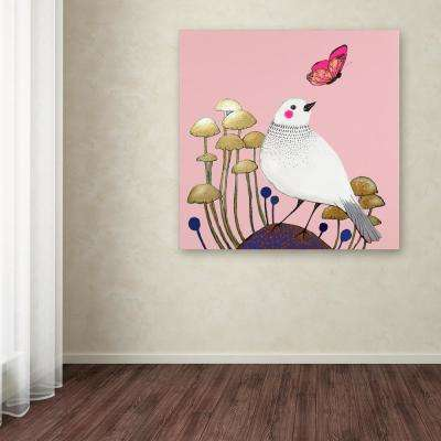 """18 in. x 18 in. """"Le Petit Sentier Rose"""" by Sylvie Demers Printed Canvas Wall Art"""