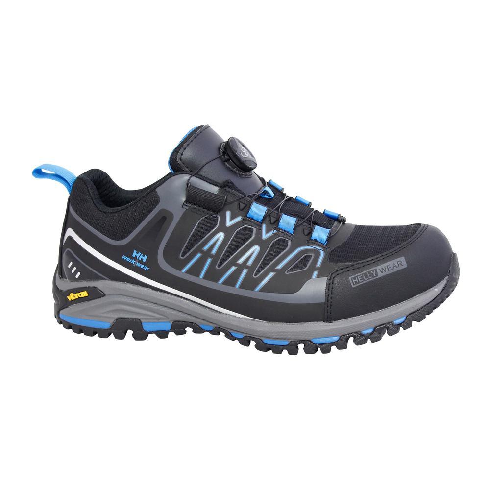 Helly Hansen Fjell Low Boa Men's Size 7.5 Black/Blue Nylon Composite Toe Work Shoe