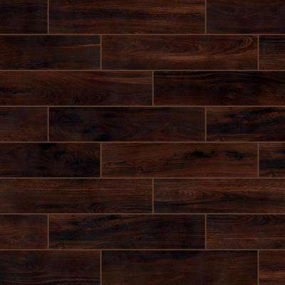 Beautiful Wood Cherry 8 in. x 36 in. Porcelain Floor and Wall Tile (122.4 sq. ft. / pallet)