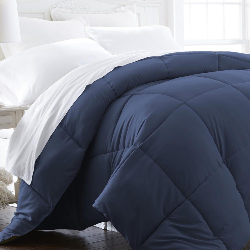 Performance Navy King Down Alternative Comforter
