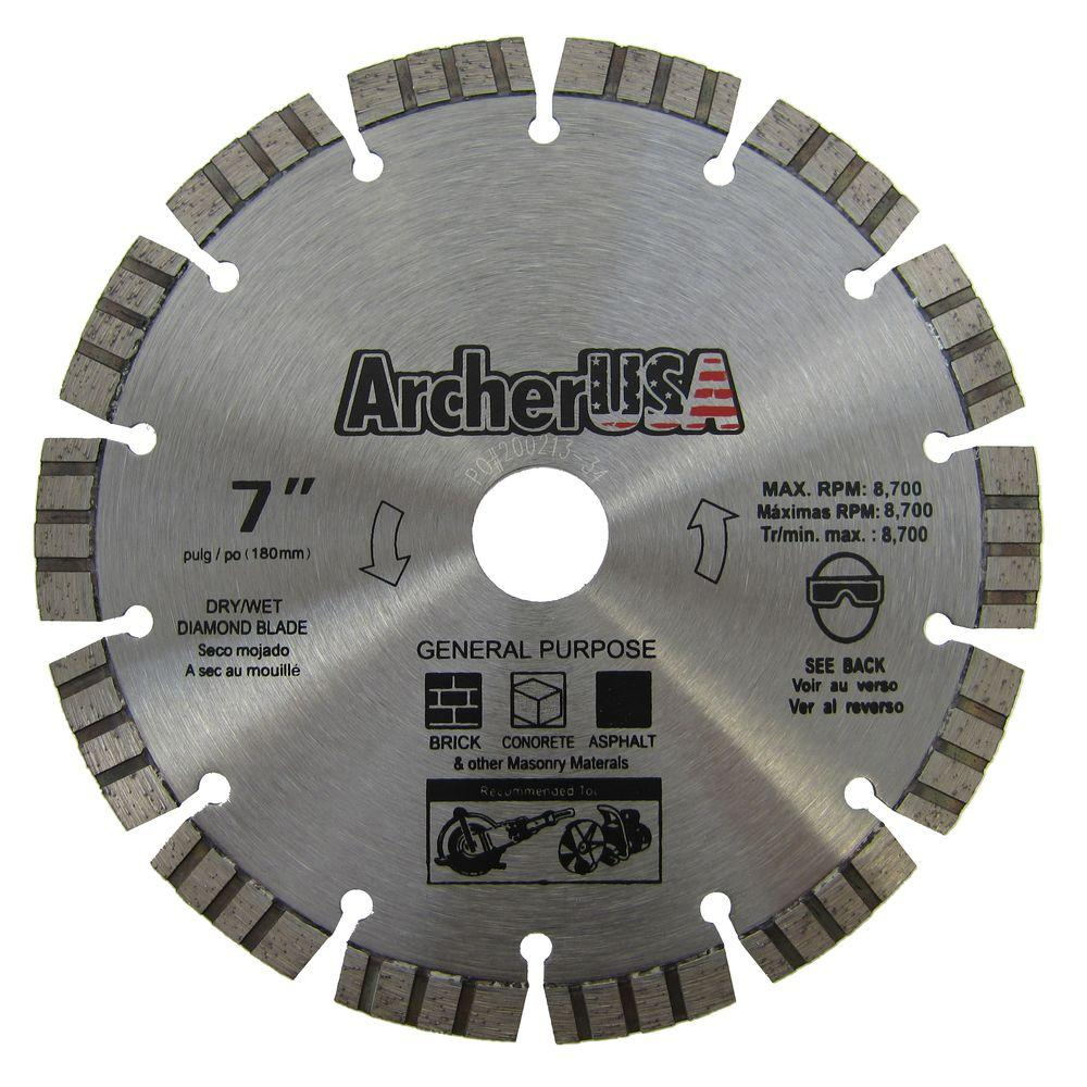 Archer USA 7 in. Diamond Blade for Concrete Cutting