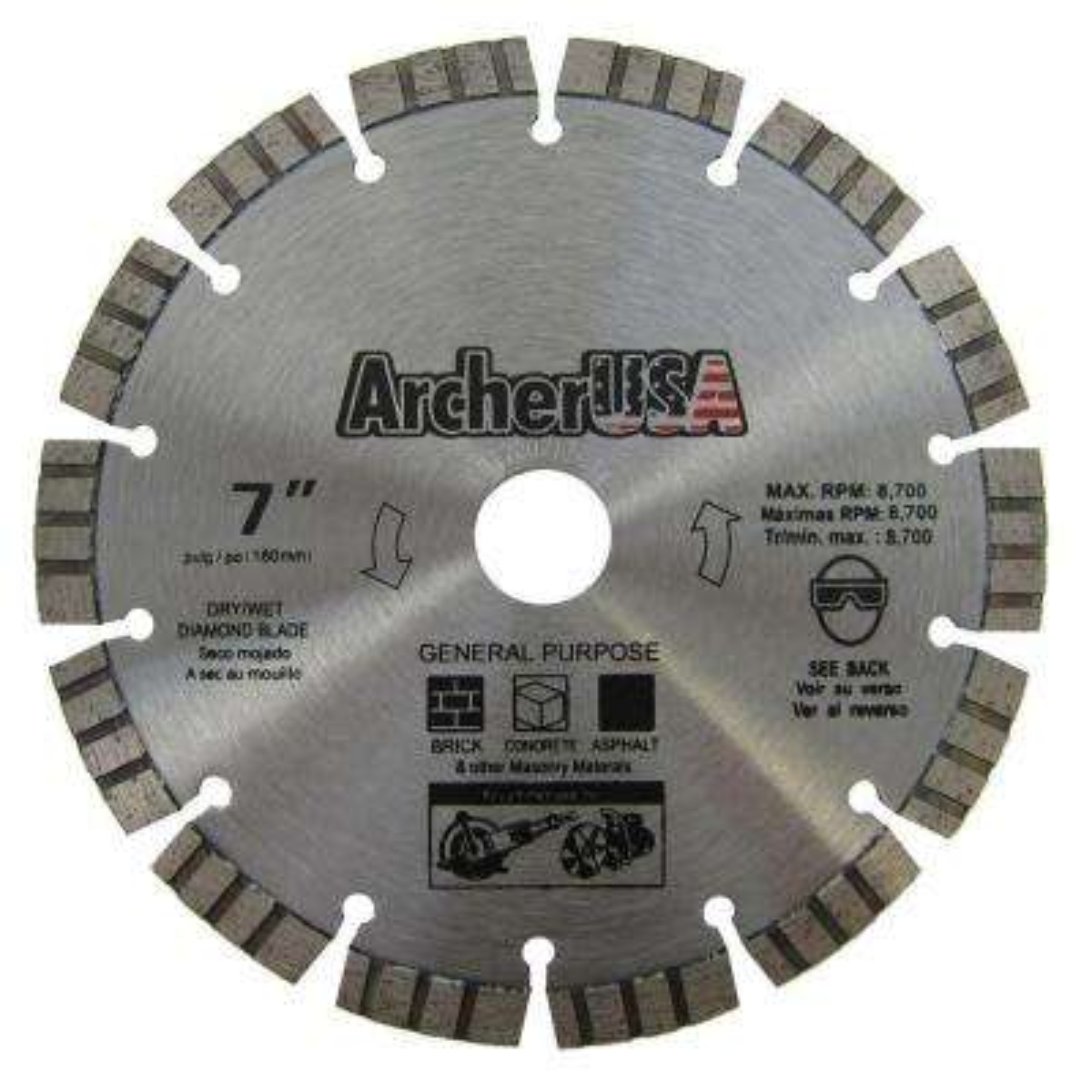 7 in. Diamond Blade for Concrete Cutting