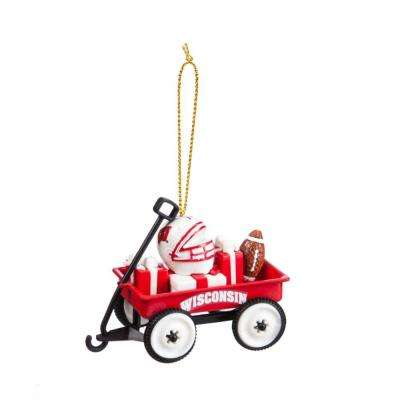 University of Wisconsin 1-3/4 in. NCAA Team Wagon Christmas Ornament