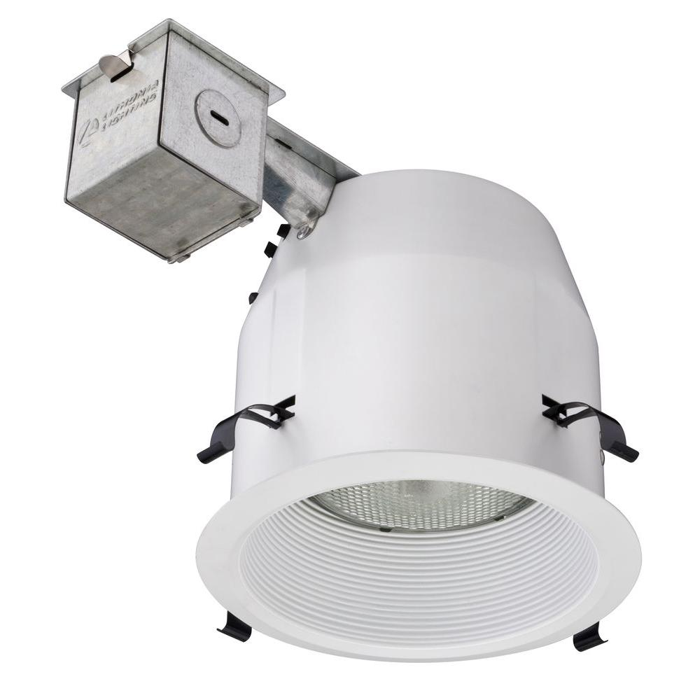 Lithonia Lighting 5 in. Matte White Recessed Baffle Light Kit