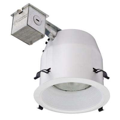 5 in. Matte White Recessed Baffle Light Kit