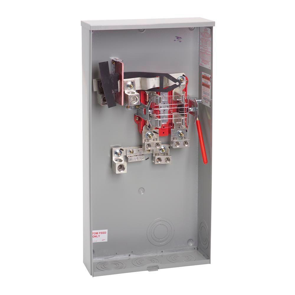 400 Amp 4 Terminal Ringless Side Wireway Underground Meter Socket