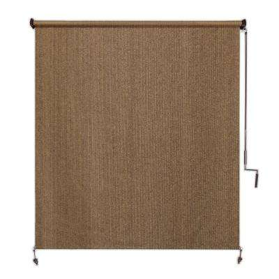 Walnut Exterior Roller Shade - 48 in. W x 96 in. L