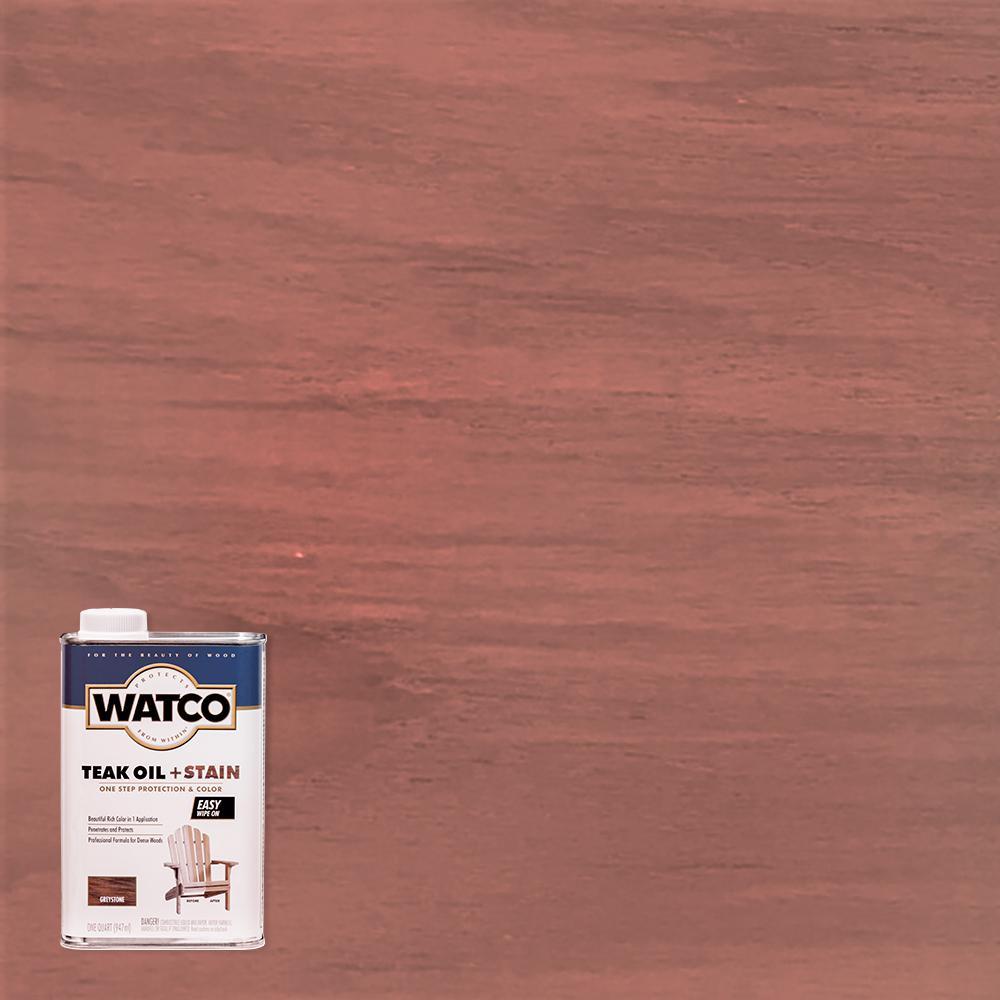 Watco 1 qt. Greystone Teak Oil (4-Pack)