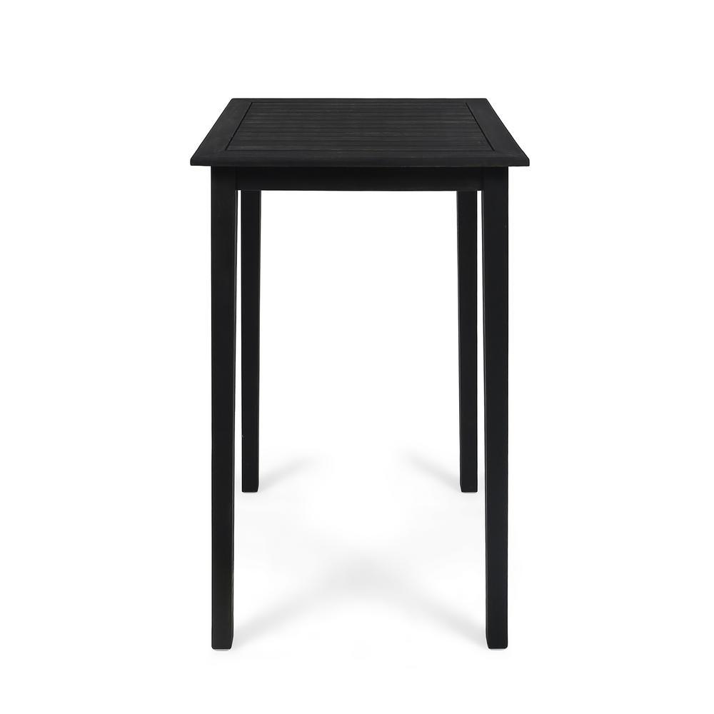 Polaris 41 in. Dark Grey Square Wood Outdoor Accent Table