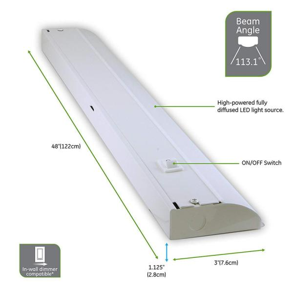 Ge 48 In Premium Led Direct Wire Under, Ge Led Under Cabinet Lighting