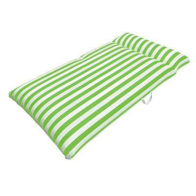 Morgan Dwyer Signature Series Pool Chaise Mattress - Lime Green Luxury Fabric Float for Swimming Pools
