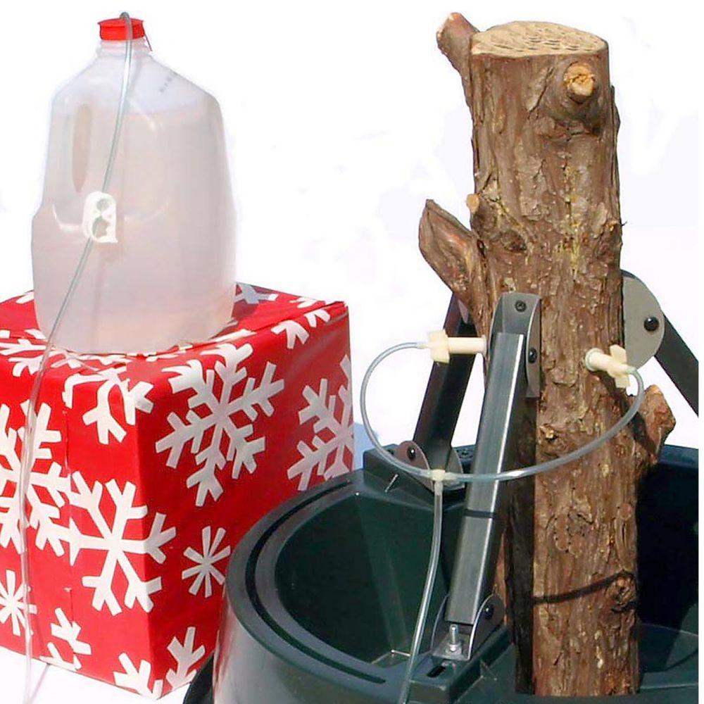 Christmas Tree Stand That Turns: Santa's Solution Steel-Arm Plastic Tree Stand With Turn