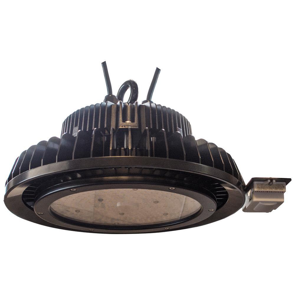 240 Watt Led High Bay Lights: PRO-SERIES 240-Watt Black Integrated LED UL High Bay Light