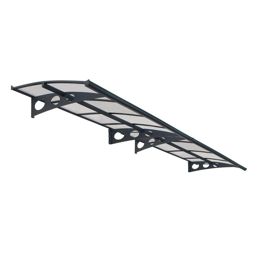 Palram Herald 4460 Awning in Grey/Clear
