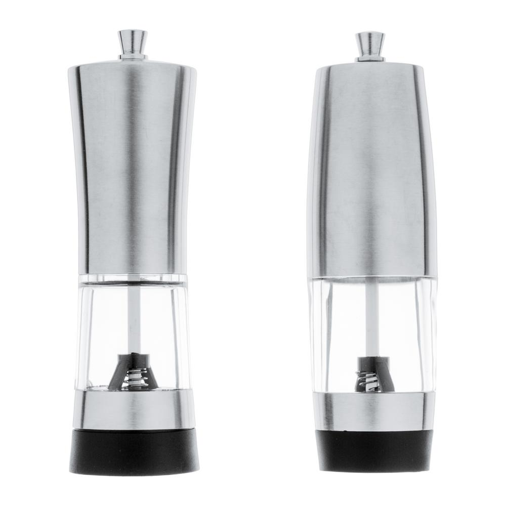 Geminis Stainless Steel Salt and Pepper Mills (2-Pack)