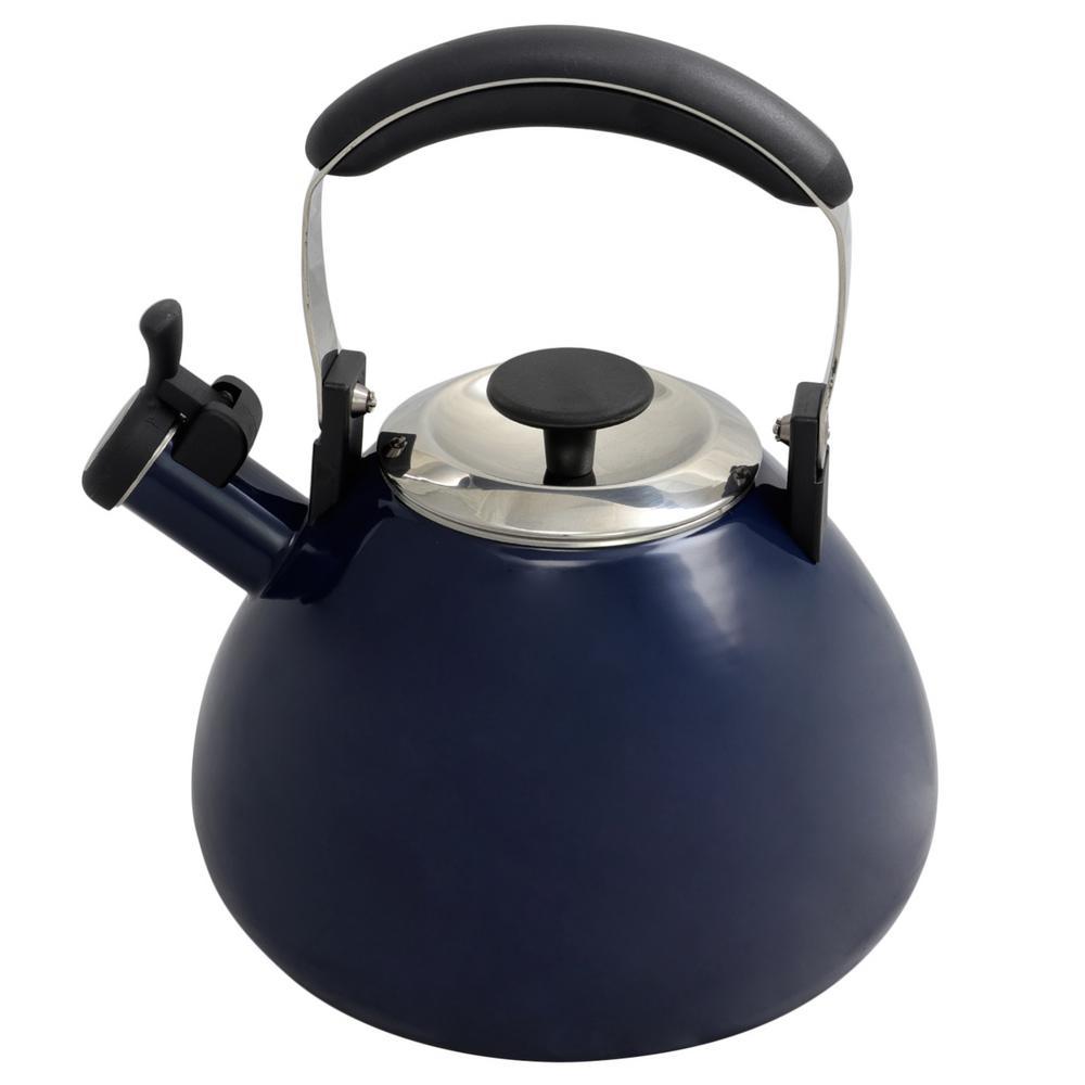 Marlowe 3 Qt. Blue Whistling Tea Kettle