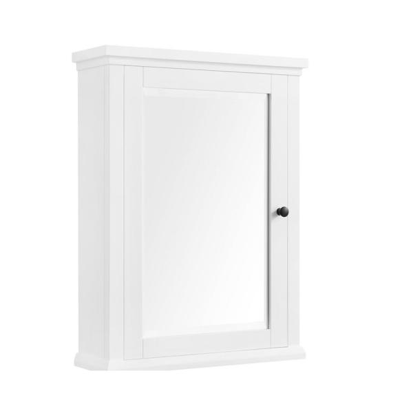 Home Decorators Collection Merryfield 24 In W X 32 In H Framed Surface Mount Bathroom Medicine Cabinet In White 19112 Mc24 Wt The Home Depot