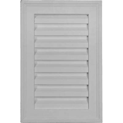 2 in. x 12 in. x 18 in. Decorative Vertical Gable Louver Vent