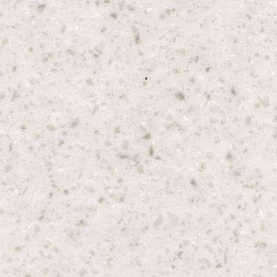 2 in. x 2 in. Solid Surface Countertop Sample in Ripe Cotton