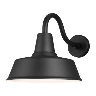 Barn Light 1-Light Black Outdoor Wall Mount Lantern Sconce with LED Bulb