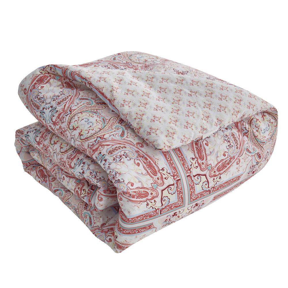 Josephine 7-Piece Pink Medallion Queen Comforter Set