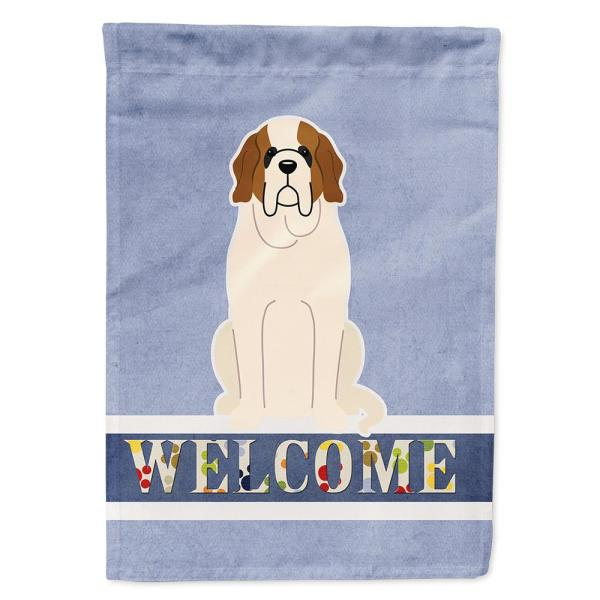 Caroline S Treasures 11 In X 15 1 2 In Polyester Saint Bernard Welcome 2 Sided 2 Ply Garden Flag Bb5616gf The Home Depot