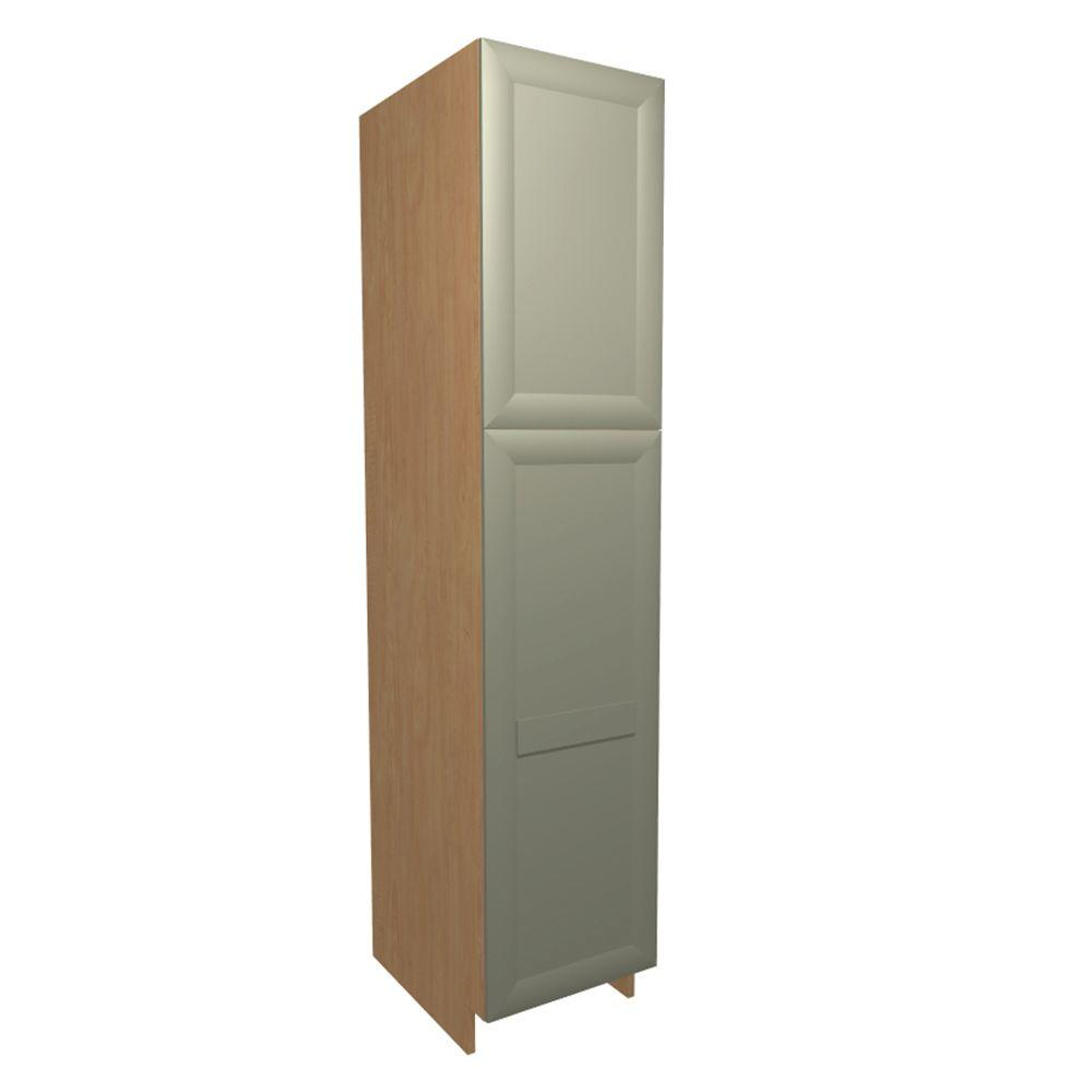 Home Decorators Collection Salerno Ready To Assembled 18 X 92 X 24 In Pantry Utility Cabinet In