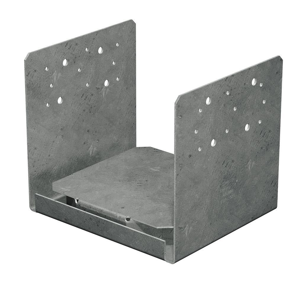 ABU ZMAX Galvanized Adjustable Standoff Post Base for 8x8 Rough Lumber