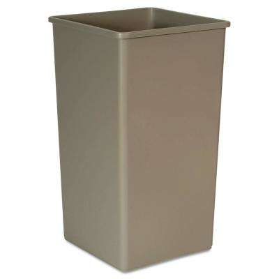 Untouchable 50 Gal. Beige Square Trash Can