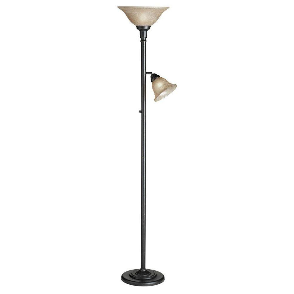 Cathrine 2 Light 71 in. Antique Brass Floor Lamp