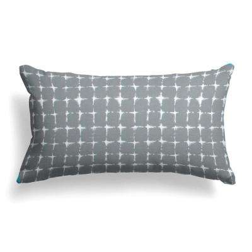 Sea Island Grey Rectangular Lumbar Outdoor Pillow