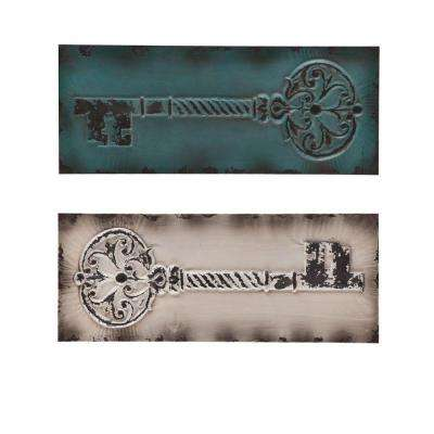 12.5 in. x 31.25 in. Key Decorative Wall Panel Set (2-Piece)