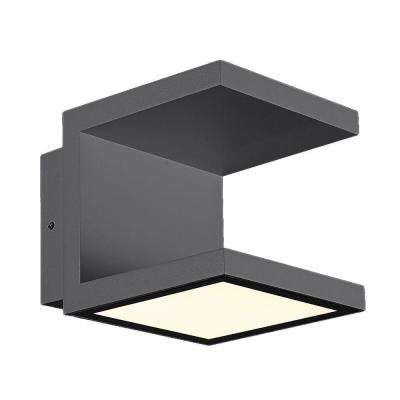 Rail Collection 2-Light Graphite Grey Outdoor LED Wall Mount