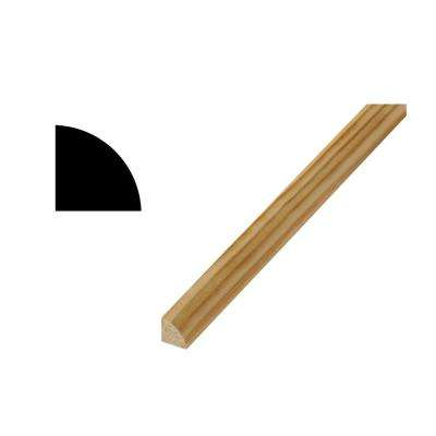 WM 106 21/32 in. x 21/32 in. x 96 in. Prestained Clear Pine Quarter Round Moulding