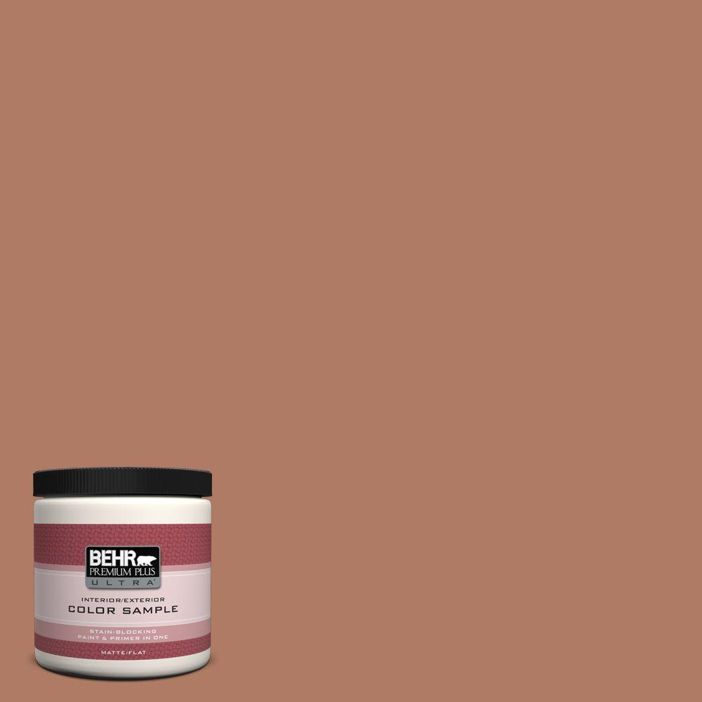 BEHR Premium Plus Ultra 8 oz. #PMD-84 Pecan Interior/Exterior Paint Sample